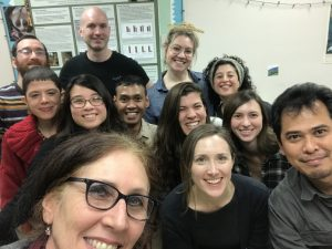 Strier lab members and colleagues during Dr. Rayadin visit (left to right: Jacob Kraus, Dr. Richard McFarland, Mary Dinsmore, Ilianna Anise, Irene Duch-Latorre, Alexandra Steffeck, Sugiono Hanggito, Gisela Sobral, Christine Grebe, Dr. Karen Strier, Dr. Stephanie Spehar, and Dr. Yaya Rayadin)